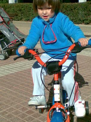 Con mi bici nueva